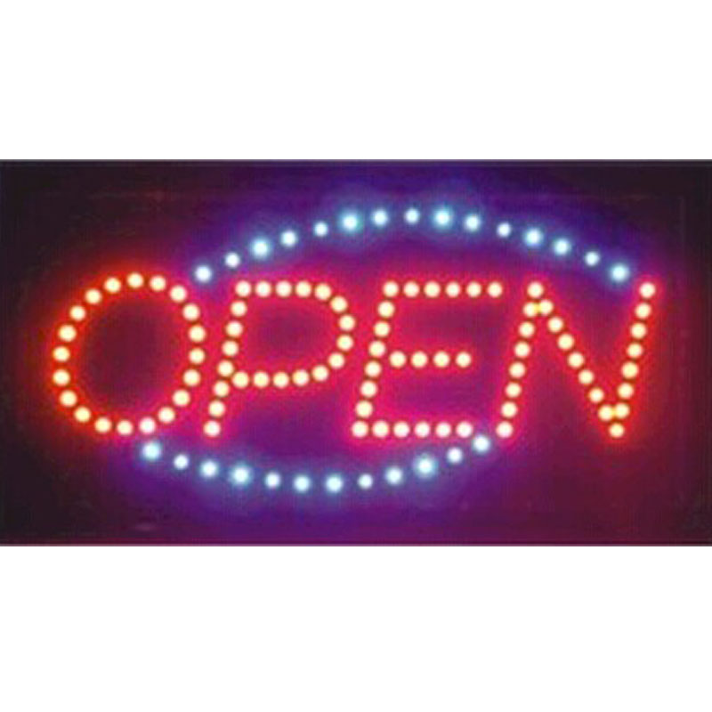 direct selling custom led screen signs 10X19 inch semi-outdoor Animated Running led open sign