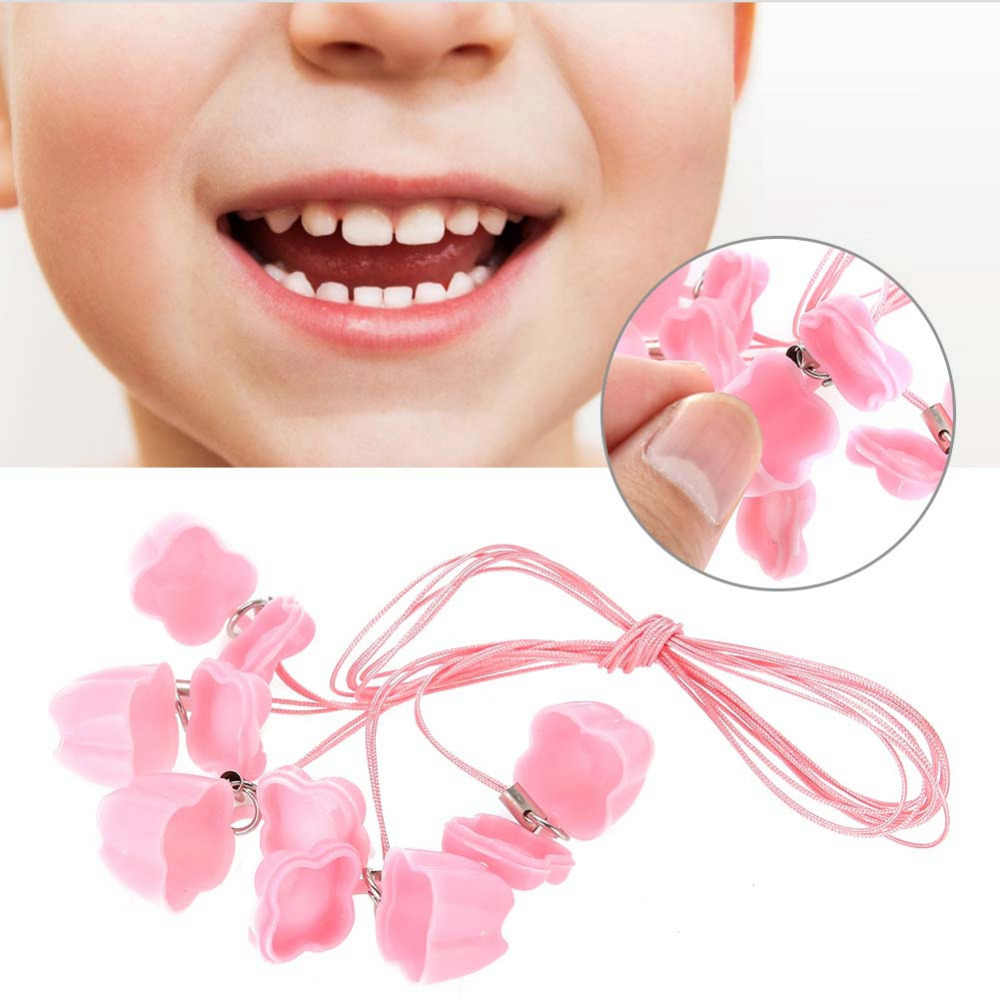 brand new 5pcs/bag baby milk tooth storage box kids teeth storage organizer plastic collect boxes with rope tooth saver necklace