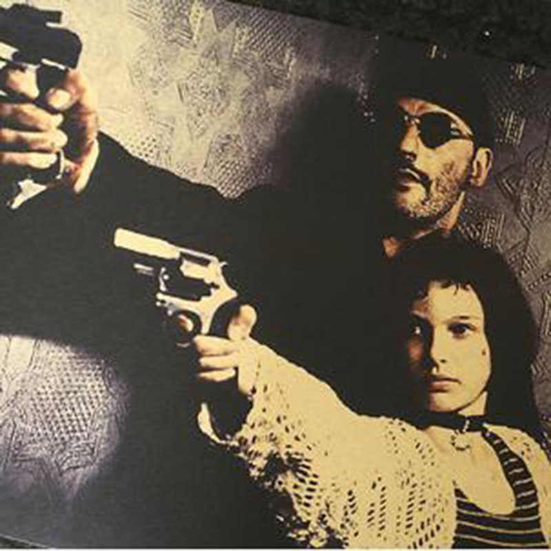 52x36cm 6 Types Classic Movie Leon The Professional Vintage Sticker Poster Retro Poster Wall Decoracion Pared Home Decor