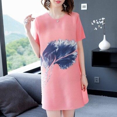 Bleu rose Perles Stock Imprimer Mode Style Gratuite Red vert Plumes rose De En Courtes jaune gris Fold À Manches shirts T Livraison w7ZU64qn