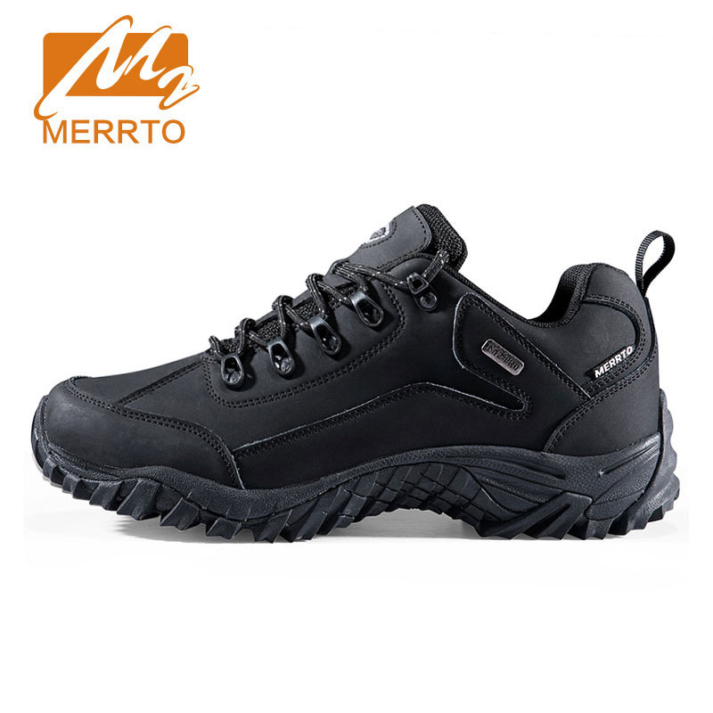 Merrto Genuine Leather Hiking Shoes For Men Women Outdoor Hiking Boots Sports Sneakers Trekking Shoes Camping Climbing Shoes merrto women hiking shoes women sneakers leather outdoor hiking trekking shoes sneakers for women sport climbing mountain shoes