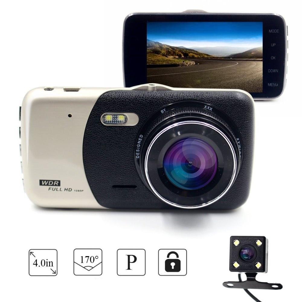 New 4.0 Inch Screen Car DVR Car Camera Dual Lens Recording Dash Camera Full HD 1080P Video 170 Degree Wide-Angle Dash Cam Oncam цена