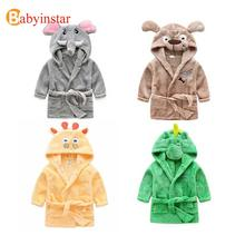 Children Cartoon Robes Animal Boys Girls Flannel Pajamas sleepwear  Baby Bathrobe Romper kids Home wear Dinosaur pijamas Cloak