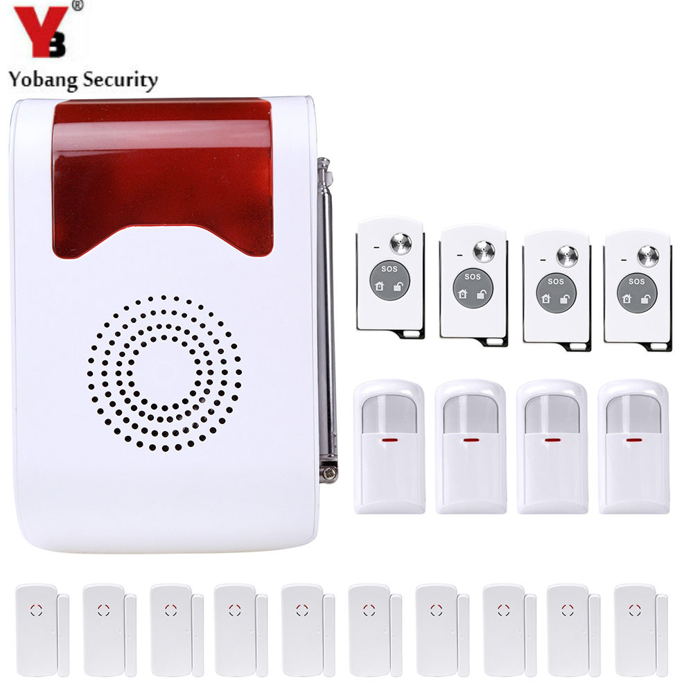 YobangSecurity 433Mhz Remote Control Wireless Anti-theft Alarm system Loudly Voice Home Alarm Security System hzsecurity electromagnetic system em library anti theft system one aisle
