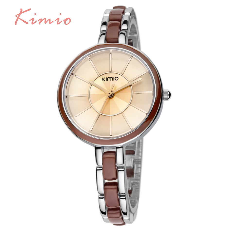 KIMIO simulation Ceramic Ladies watch luxury brand logo Quartz Watches Women Dress Girl Wristwatches montre femme marque de luxe kimio brand luxury blue crystal women ladies watch silver steel band dress wacth japan quartz wristwatches
