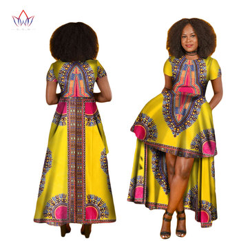 BintaRealWax African Dresses for Women O-Neck Dashiki Long Women African Clothing robe africaine femme 2017 Plus Size WY1829
