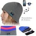 Bluetooth Caliente Beanie Sombrero Hecho Punto Invierno Auriculares Manos Libres Magia Micrófono Altavoz Música cap sombreros de los deportes para la muchacha del muchacho ampTW6