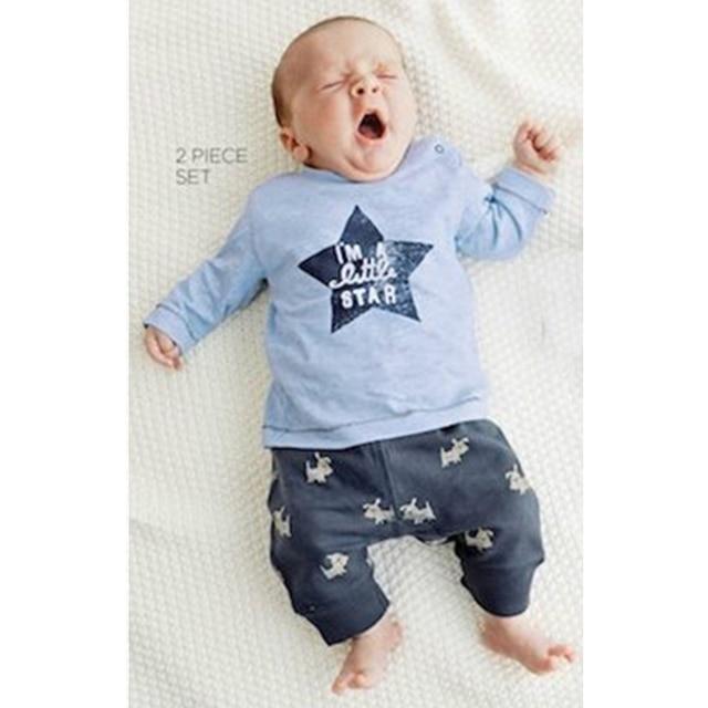 2017 del bambino di autunno del ragazzo dei vestiti dei bambini 2 pz vestito  di modo a6d06e14398