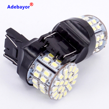 100 X T20 7443 W21/5W Brake Light Bulbs 3020 50 LED 1206 SMD Dual Intensity Tower Tail Stop Signal reversing lamp white Adebayor