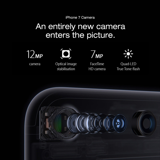 Original Unlocked Apple iPhone 7 4G LTE Mobile phone 2G RAM 256GB/128GB/32GB ROM Quad Core 4.7''12.0 MP Fingerprint Camera Phone 8