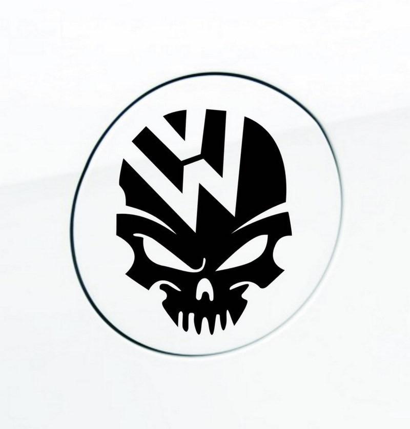 US $12 99 |TOARTI 10pcs/lot Skull Crossbones Kito Car Stickers Volkswagen  Automotive LOGO Fuel Tank Cap Decor Sticker 4 Colors Car Decals-in Car