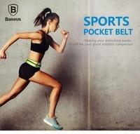 BASEUS Brand Universal Fluorescent Running Sports Pocket Belt Waist Bag Case For IPhone 6s 6 Plus