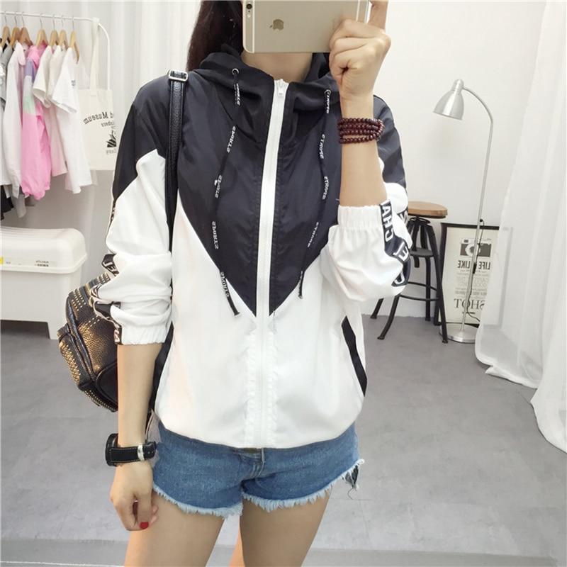Jackets   Women 2018 New   Basic     Jacket   Women's High Quality Hooded   Jacket   Fashion Thin Casual Windbreaker Female Outwear Coat