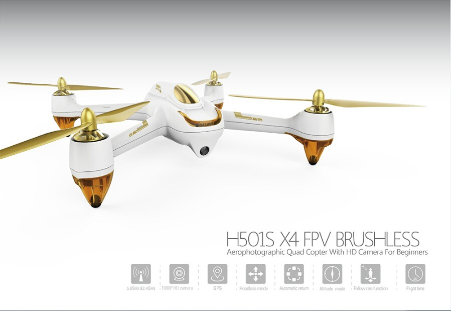 все цены на Hubsan H501S X4 PFV BRUSHLESS, Aerophotographic Quad Copter With GPS Camera For Beginners racing  Drone Dron with Camera онлайн