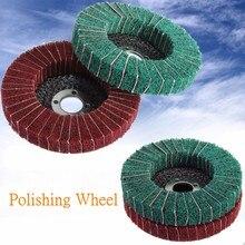 1PCS 10cm Nylon Fiber Buffing Wheel Abrasive Polishing Buffing Disc 280/320 Grit Nylon Fiber Polishing Wheel fiber polishing buffing wheel 320 grit nylon abrasive 150mm dia 25mm 7p hardnes