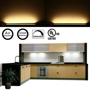Image 5 - Cabinet Bar Kit Rigid LED Bar Light with Dimmer Switch  Cabinet Bar Light  Furniture Kitchen Cabinet Lighting Bar(8 Panels)