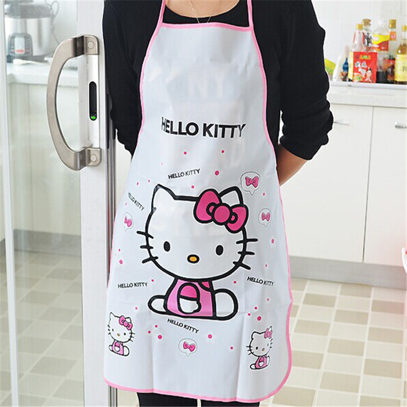 Cartoon Doraemon Apron Sleeveless Waterproof Anti-oil Aprons Kitchen Cooking Waist Bib Women Apron BBQ