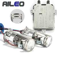 AILEO Car Xenon hid h4 Headlight Bulbs lossless xenon Mini Projector Double Lens Shrouds Headlight 12V 4300K 6000k 8000k 55W