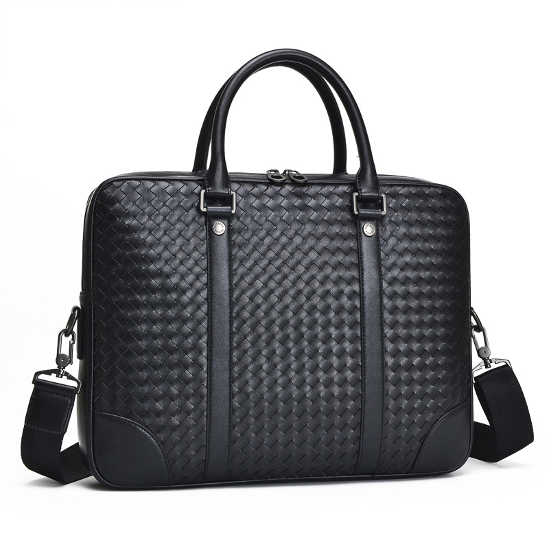 цена Brand Men's Handbag Genuine Leather Briefcase Large Capacity Shoulder Bag Fashion Briefcase Business Package Male Computer Bag