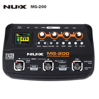 NUX MG 200 EU US Plug Multi Effects Guitar Modeling Processor 56 Drum Patterns 72 Presets