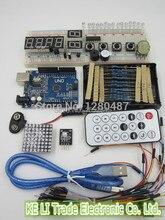 Бесплатная Доставка 1kit Robotale стартовый комплект с ООН R3 MEGA328P 830 отверстия Макет для ардуин основы использования ардуин