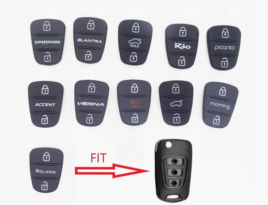 3 Buttons Rubber Button Pad For Hyundai Kia Picanto RIO  Solaris Accent Tucson l10 l20 l30 Kia Rio Ceed Flip auto Car Key Shell3 Buttons Rubber Button Pad For Hyundai Kia Picanto RIO  Solaris Accent Tucson l10 l20 l30 Kia Rio Ceed Flip auto Car Key Shell