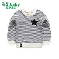 Fashion Fleece Striped Kids T Shirt Boy White Girl Boys Long Sleeve Shirt Girls Top Black