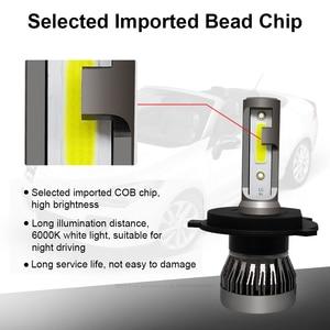 Image 2 - YAMYFF 2 Pcs H4 LED H7 Canbus Car Headlight 3000K 4300K 6500K 8000K Auto Lamp H1 H3 H11 H27 880 9005 9006 Min Headlamp Fog Light