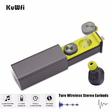 KuWFi Sport Mini Wireless Bluetooth Earphones 5.0 Earbuds With Mic Bass Stereo Magnetic Charger Box