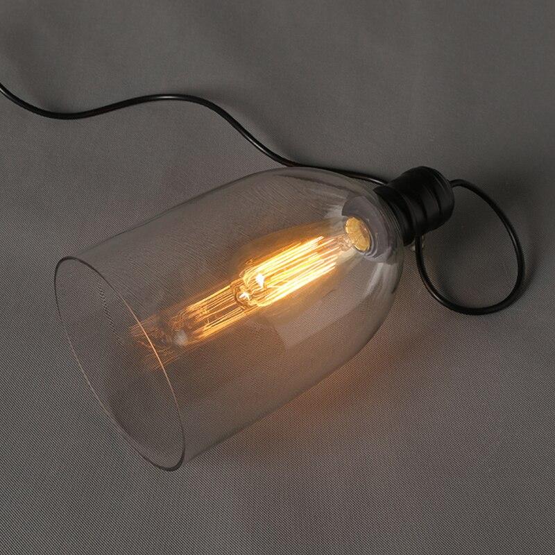 Luzes pingente de ferro do vintage vidro branco pendurado sino pingente lâmpada e27 110 v 220 v para sala jantar decoração casa planetário hm41 - 6