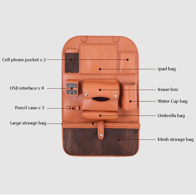 Mobil Kursi Belakang Tas Penyimpanan Kursi Gantung Tas Anti-Dirty Pelindung Matras untuk Kia Mohave Niro Optima Picanto Rio 3 K2 K3 K4 K5 K7 KX5