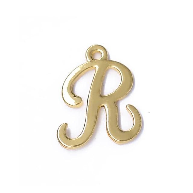 exquisite initials golden english word r metal pendant alphabet a z