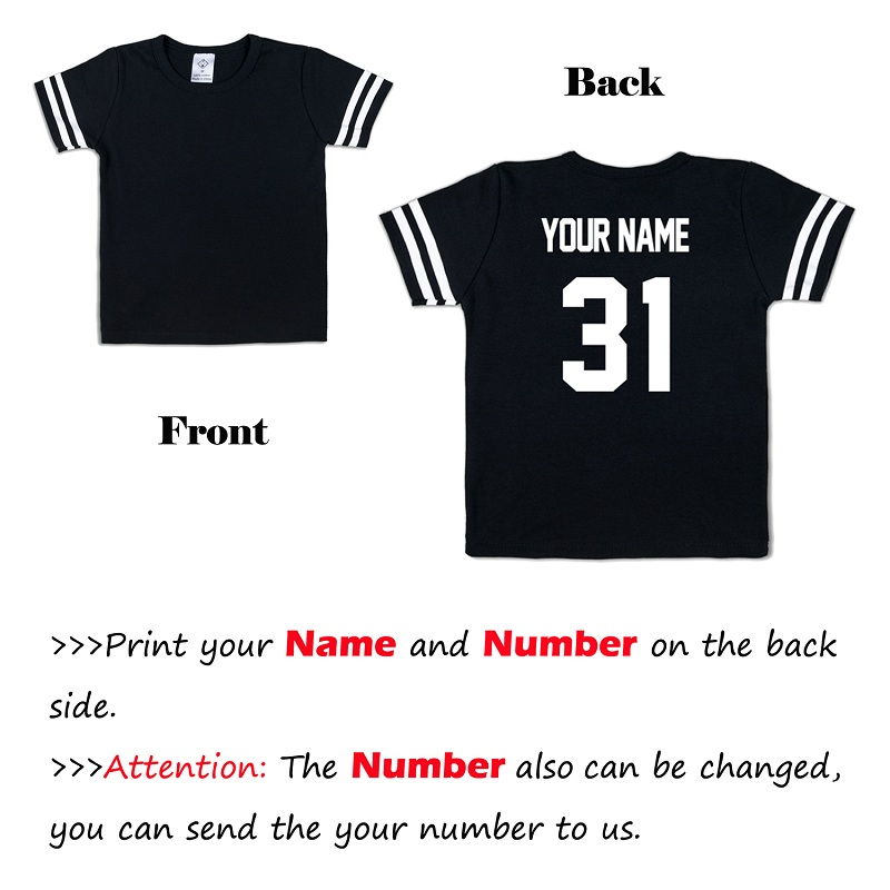 Image 2 - Kid T Shirt Personal Customize Football Sport Jersey Solid Summer Short Sleeve Casual Tees Baby Girl Boy Toddler Tops Clothing-in T-Shirts from Mother & Kids