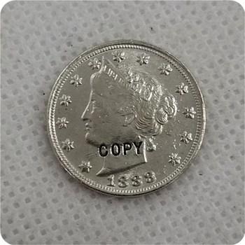 1888 Liberty Head V níquel copia moneda