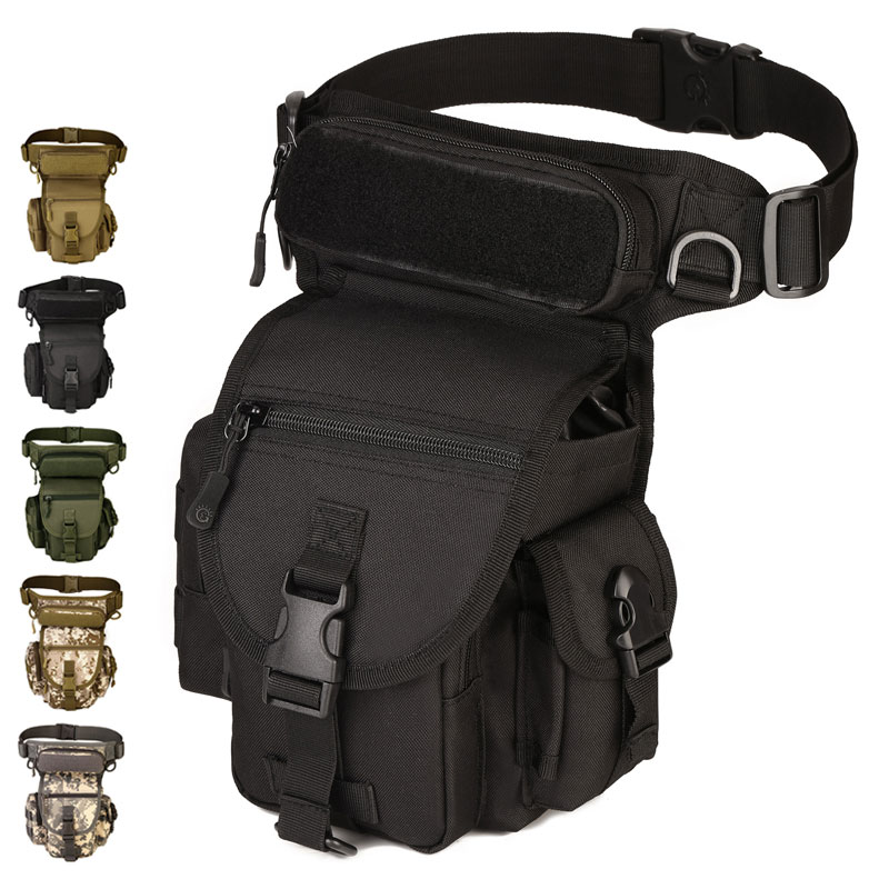 Protector Plus K314 SWAT Leg Bags Waist Pack Motorcycle Pouch Multi-functional Attack Nylon Camo Utility