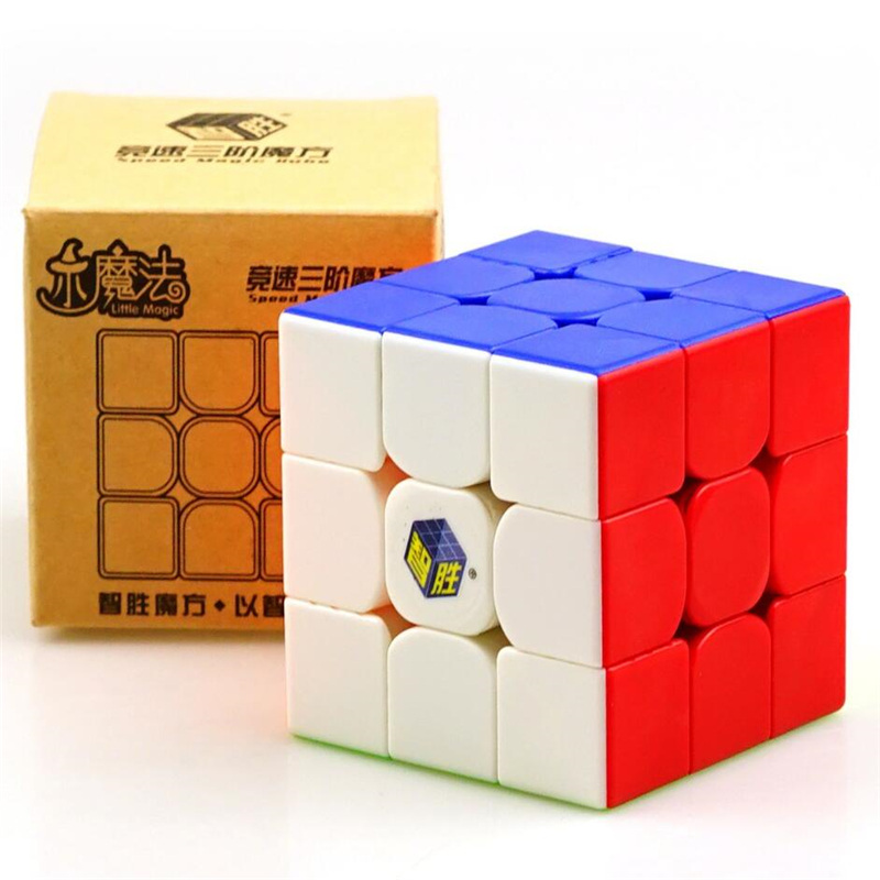 Yuxin Little Magic Cube 3x3 Black Stickerless 3x3x3 Cubo Magico Professional no stickers Speed Cube Puzzle Toys For Children lol