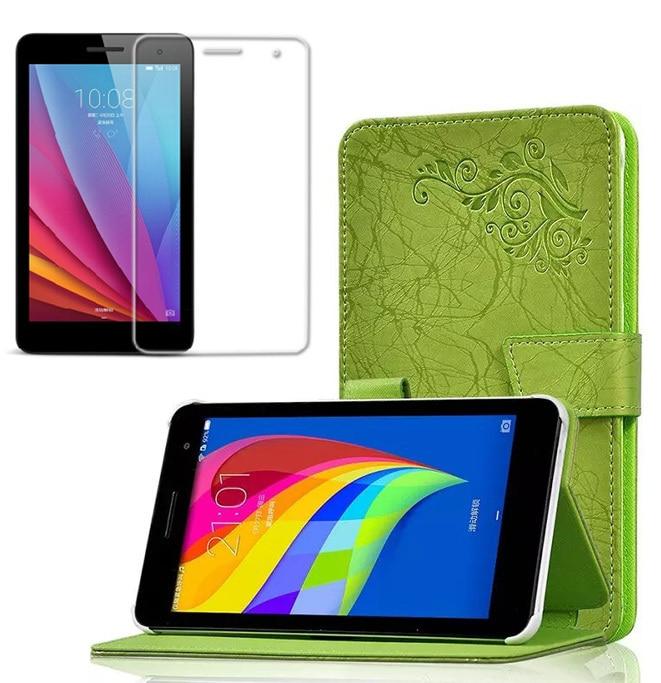 "1x ekraanikaitse, trükimustriga Folio seinakattega nahkkott Huawei Mediapadi jaoks T1 7.0 T1-701w T1-701u T2-7 BGO-DL09 7 """