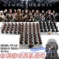 21 PCS/LOT Game of Thrones Eddard Stark Lance Épée D'infanterie Jory Cassel Glace et Le Feu Sans Tache D'infanterie jeu de construction