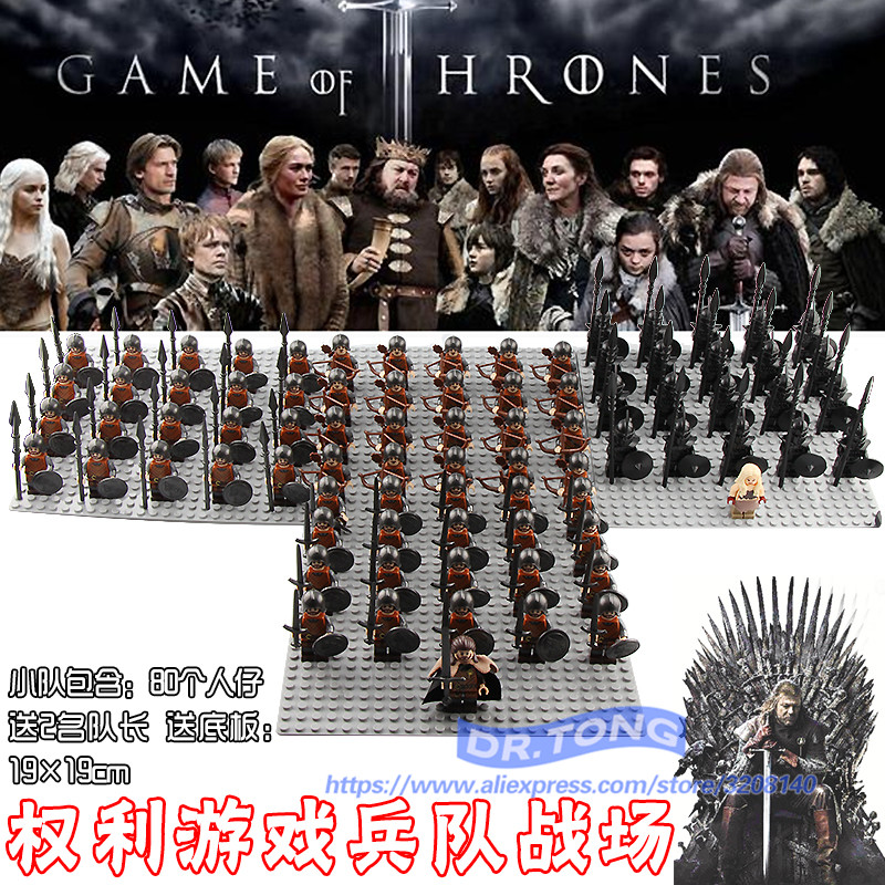 21PCS/LOT Game of Thrones Eddard Stark Spear Sword Infantry Jory Cassel Ice and Fire Unsullied Infantry Building Blocks Toys game of thrones hear me roar lannister theme 3d bronze quartz pocket watch a song of ice and fire related product gift