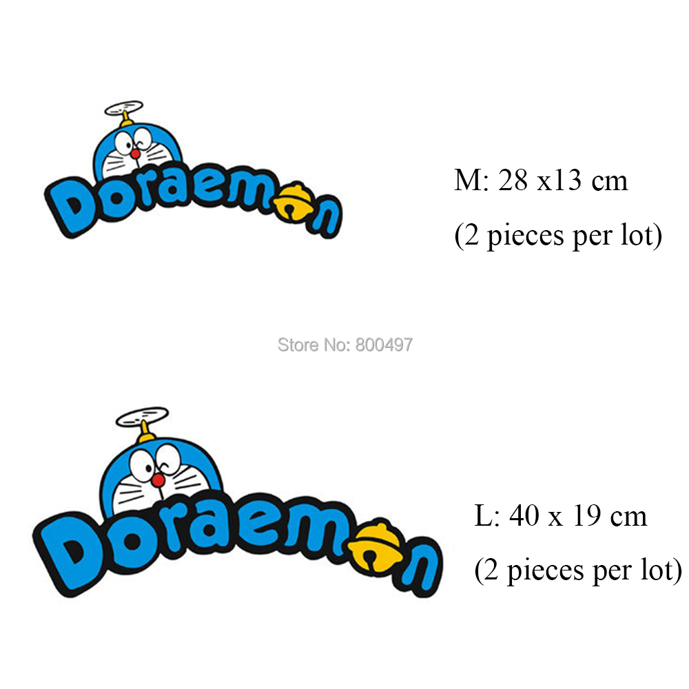 20 x New Cartoon Doraemon Car Creative Accessory Auto Decal Cartoon Car Sticker Car Bumper Body Decal Creative Pattern Vinyl