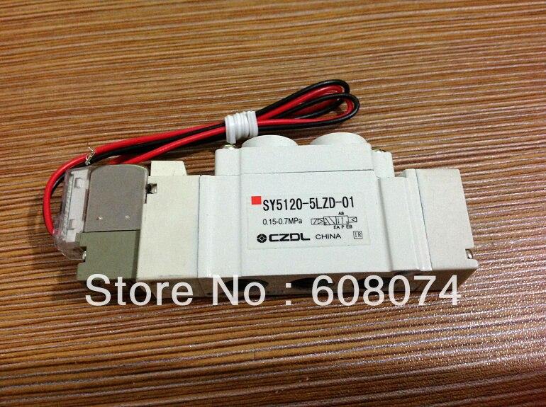 SMC TYPE Pneumatic Solenoid Valve SY3220-1L-M5 5 way pilot solenoid valve sy3220 3d 01
