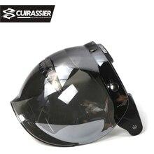 Cuirassier VS02 Open Face Motorcycle Helmet Bubble Shield Visor Lens Motorbike Glasses for Harley&Jet Helmet Sunglasses 10 Color