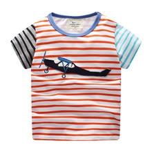 Baby Jungen Tops T Shirts Auto Engineering Auto Tee Muster Kinder T-shirts Kleidung Kinder Kurzarm Tshirt Flugzeug littlemandy