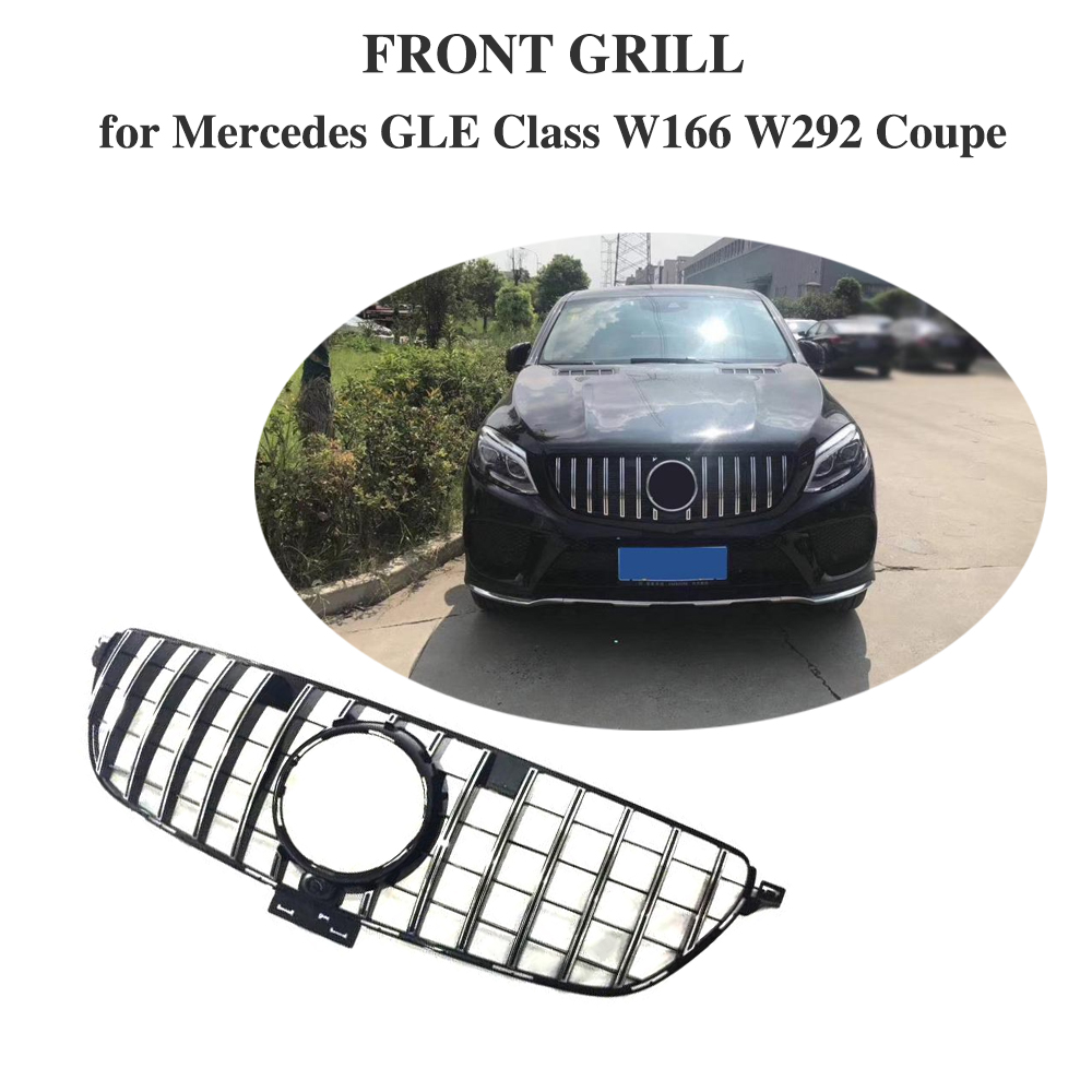 GT R Grille for mercedes Benz GLE class GLE350 GLE400 GLE500 GLE550 GLE43 AMG GLE63 AMG Front Racing Grill for W292 W166 2015 19