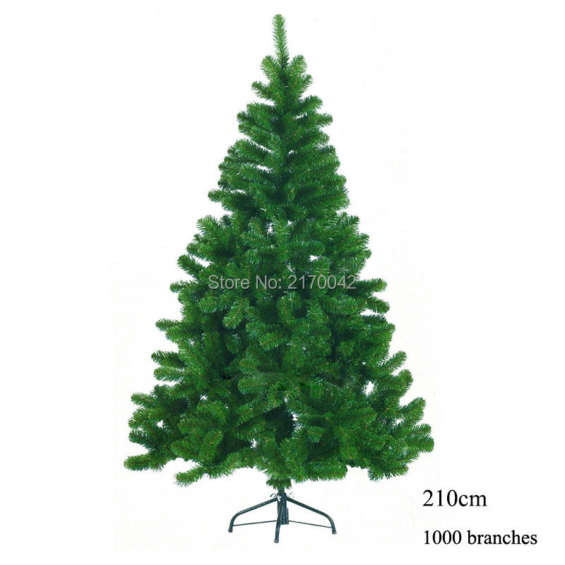 1000 branches artificial christmas tree christmas 210cm for Artificial christmas decoration tree
