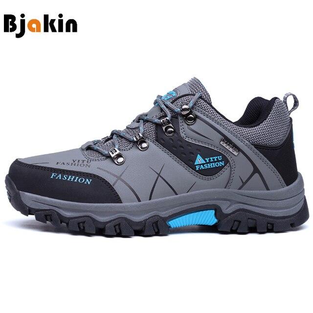 a4d4346f Bjakin Invierno Hombres Botas de Caza de Montaña Senderismo Zapatos de  Cuero Para Hombre de Deporte