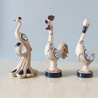 الرعوي المنزل الديكور الراتنج التماثيل نموذج المنمنمات أثاث فينيكس بطة الدجاج اليدوى عيد هدية الحرفية