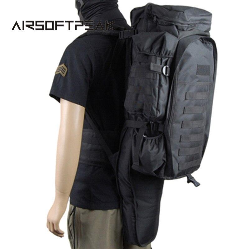 AIRSOFTPEAK Tactical Molle Gun Backpack Military Paintball Shotgun Bag Hunting Rifle Carry Bags Army Outdoor Hiking Backpacks