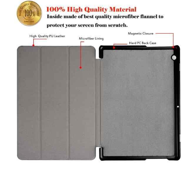 Para HUAWEI MediaPad T3 10 9,6 ''funda para Huawei Honor Play Pad 2 9,6 Tablet soporte Funda de cuero + Stylus