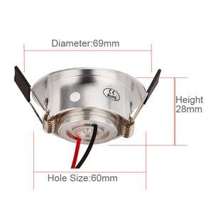 Image 2 - Mini spot lumineux Led encastrable, avec pilote, 1/3W, haute puissance, ac 85/260v, 110 330lm, 4 unités par lot, haute qualité